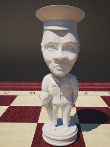 3d model chess shoigu bishop