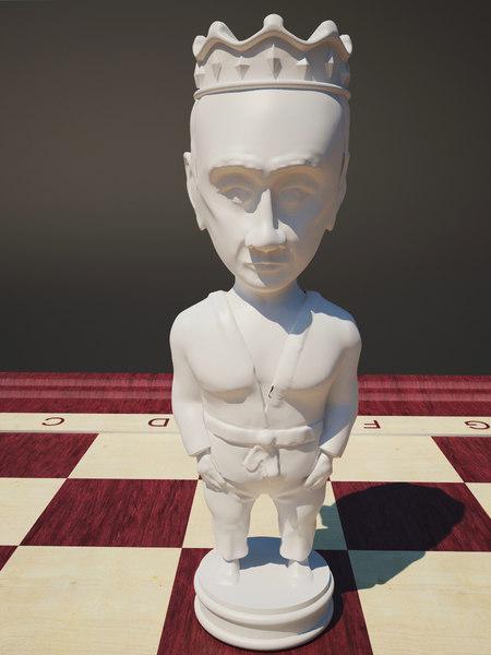 chess putin king 3d model