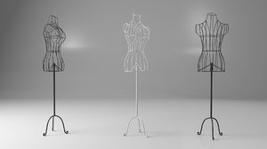 fbx vintage iron mannequin