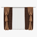 italian curtain 3D models