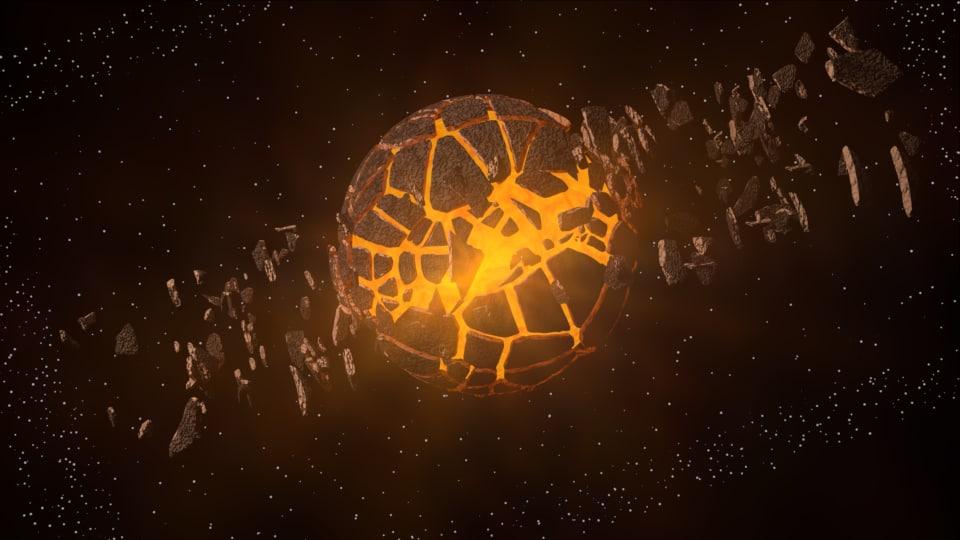 exploding planet 3d model
