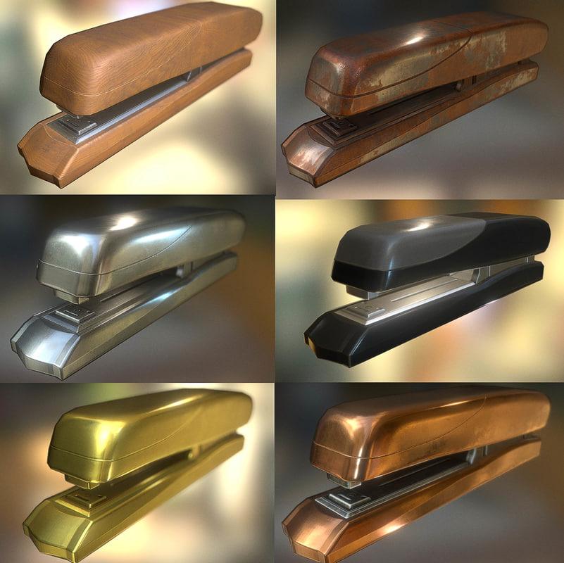 3ds stapler rigged pack
