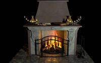 fantasy fireplace 3d c4d