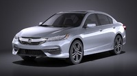 honda 2017 accord 3d max