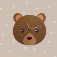 bear wall clock 3d 3ds