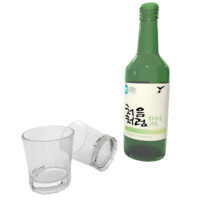 korean soju obj