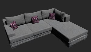 free couch sofa 3d model