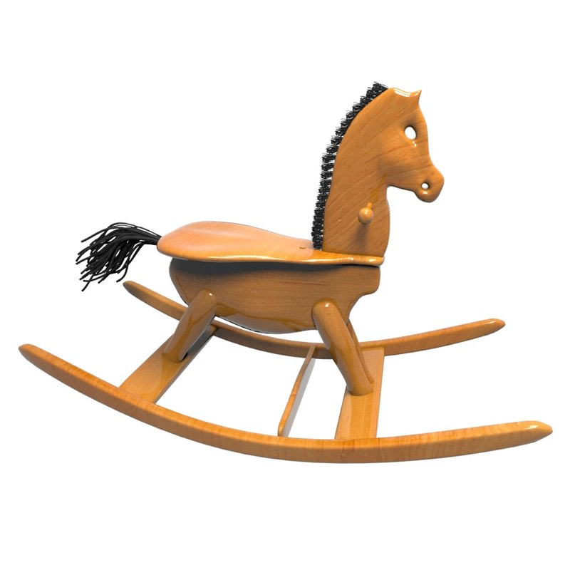 wooden horse toy max