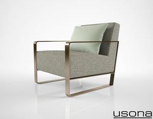 usona home armchair 04271 obj