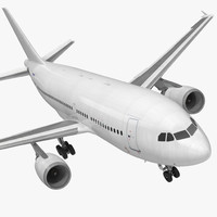 Airbus A310-300 Generic Rigged 3D Model
