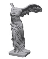 winged samothrace sculpture statues 3d model