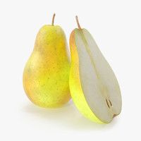 3d pear photorealistic model