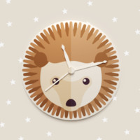 3d 3ds hedgehog wall clock