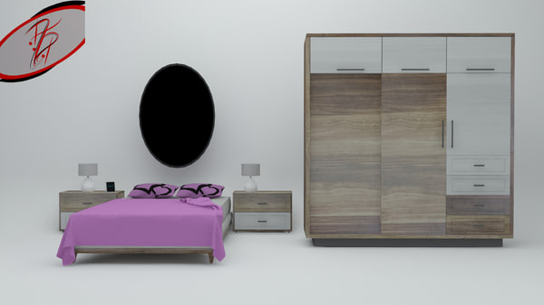 3d master bedroom - ready model