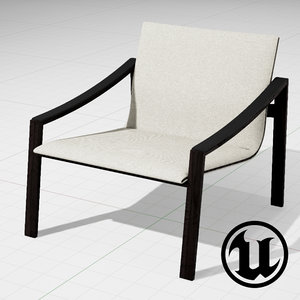 3ds unreal molteni allure chair
