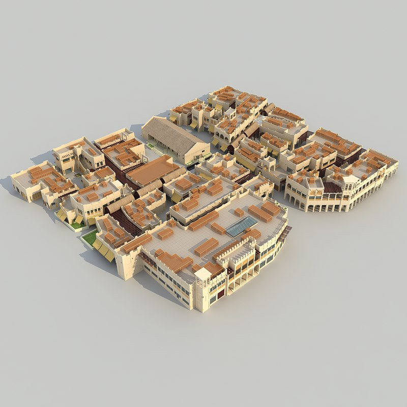 3d dubaiarchitecturebuildingmaktoum soukmarketresidential