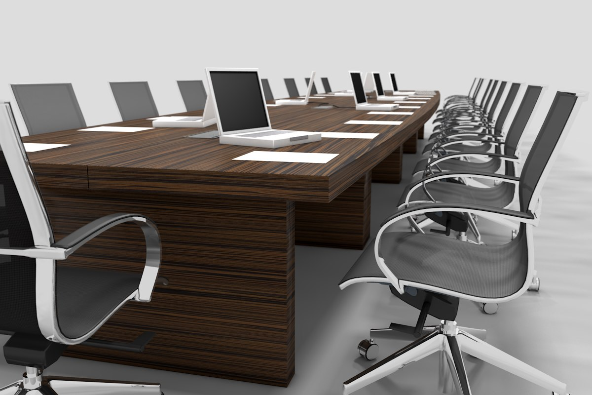 meeting table chair 3d model