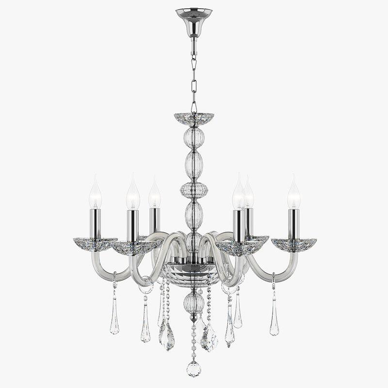 3d chandelier 722064 md39075-6 crista model
