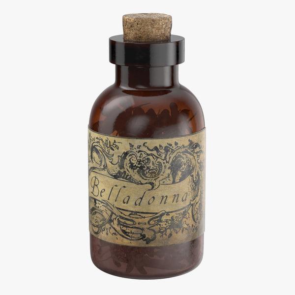 3d model of potion ingredient jar belladonna