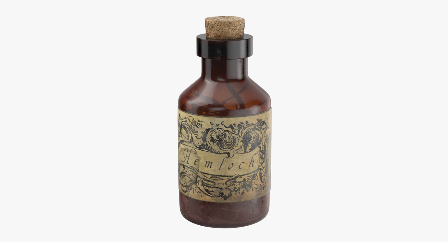 3d model potion ingredient jar hemlock