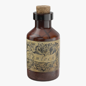 3d model potion ingredient jar hemlock