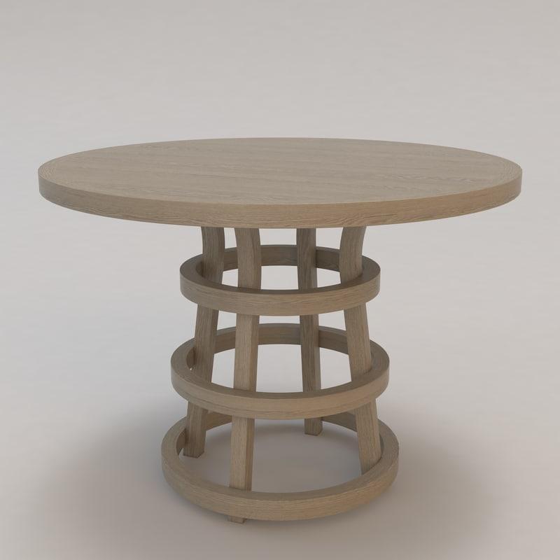 ile table christian liaigre 3d model
