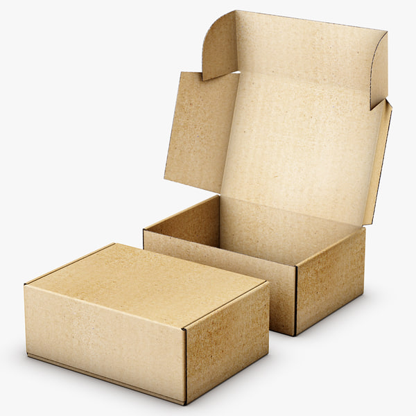 packaging box 3d obj