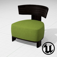 3ds unreal molteni clipper chair