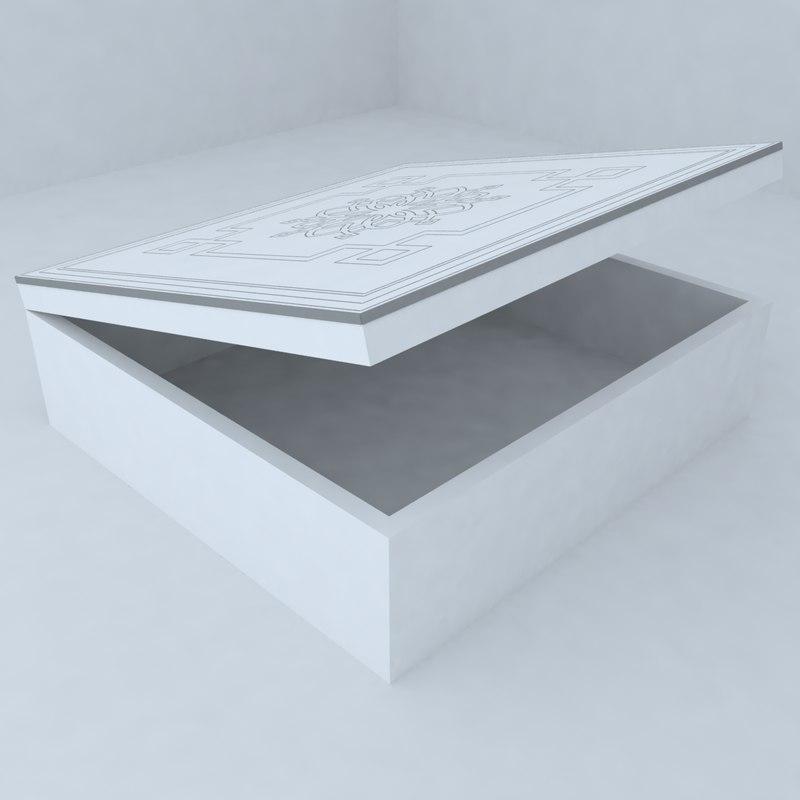 3d designed box model