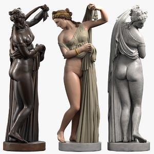 3d model marble aphrodite kallipygos
