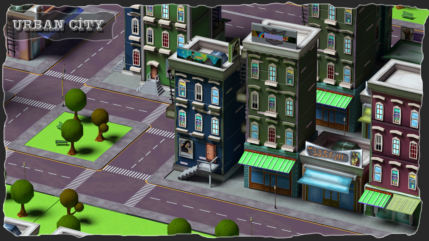 3ds urban city street