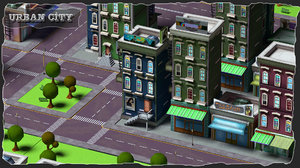3ds urban city street