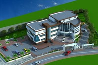3d obj administration building