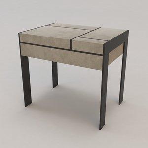 3d gauguin bed table christian model