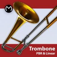 3d model alto trombone