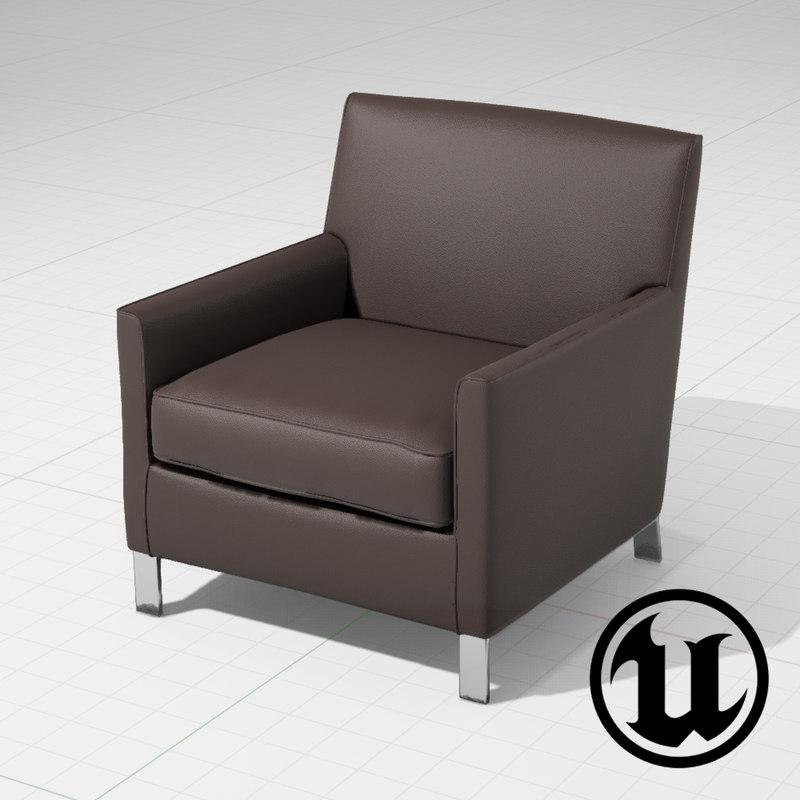 unreal molteni francine chair 3d 3ds