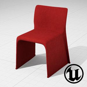 unreal molteni glove chair 3ds