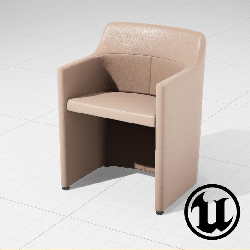 3d model unreal molteni lyz chair