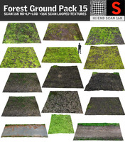 3d model forest ground pack