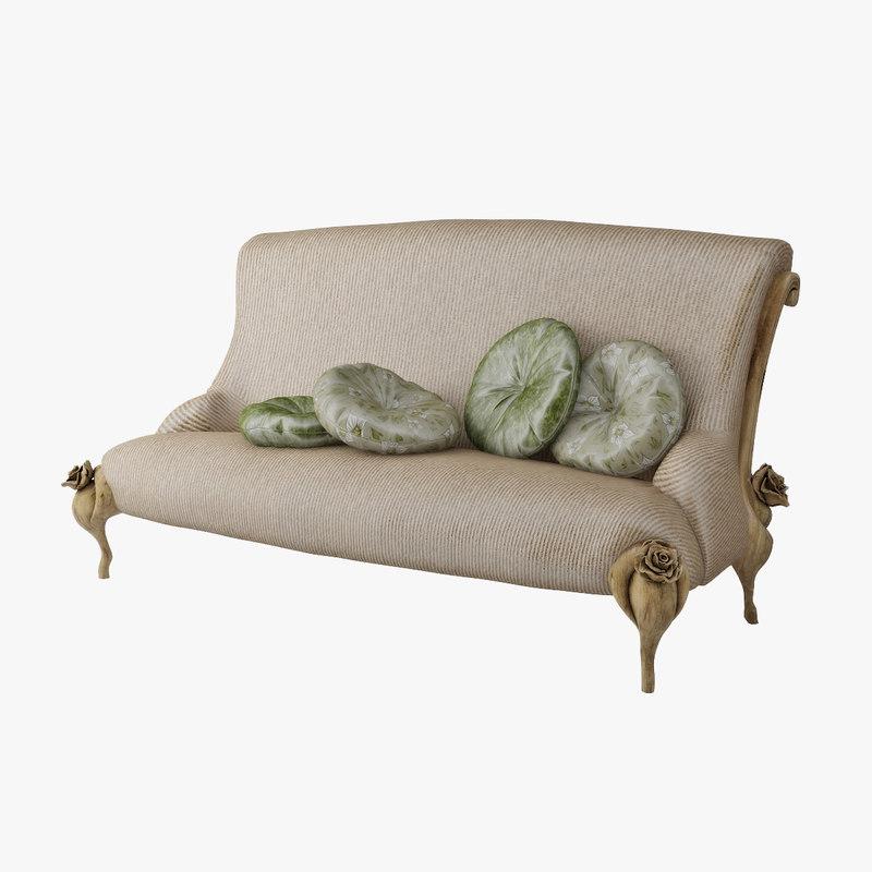 sofa bitossi luciano 3d model