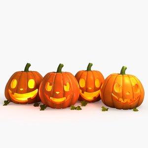 3d halloween pumpkin group