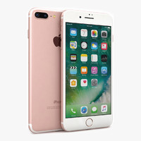 3d apple iphone 7 rose model