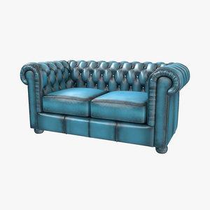 classic sofa 1 red 3d max