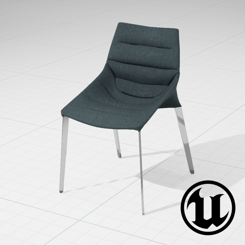 3d 3ds unreal molteni c outline chair