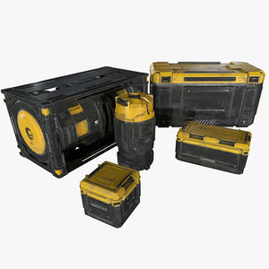 sci-fi industrial crate 3d model
