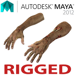 zombie hands rigged ma