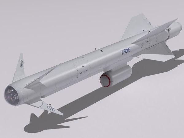 3d model kh-59 missile kh-59m