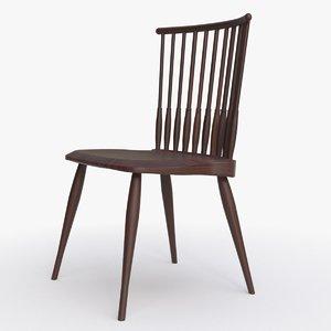 bddw fan dining chair 3d model