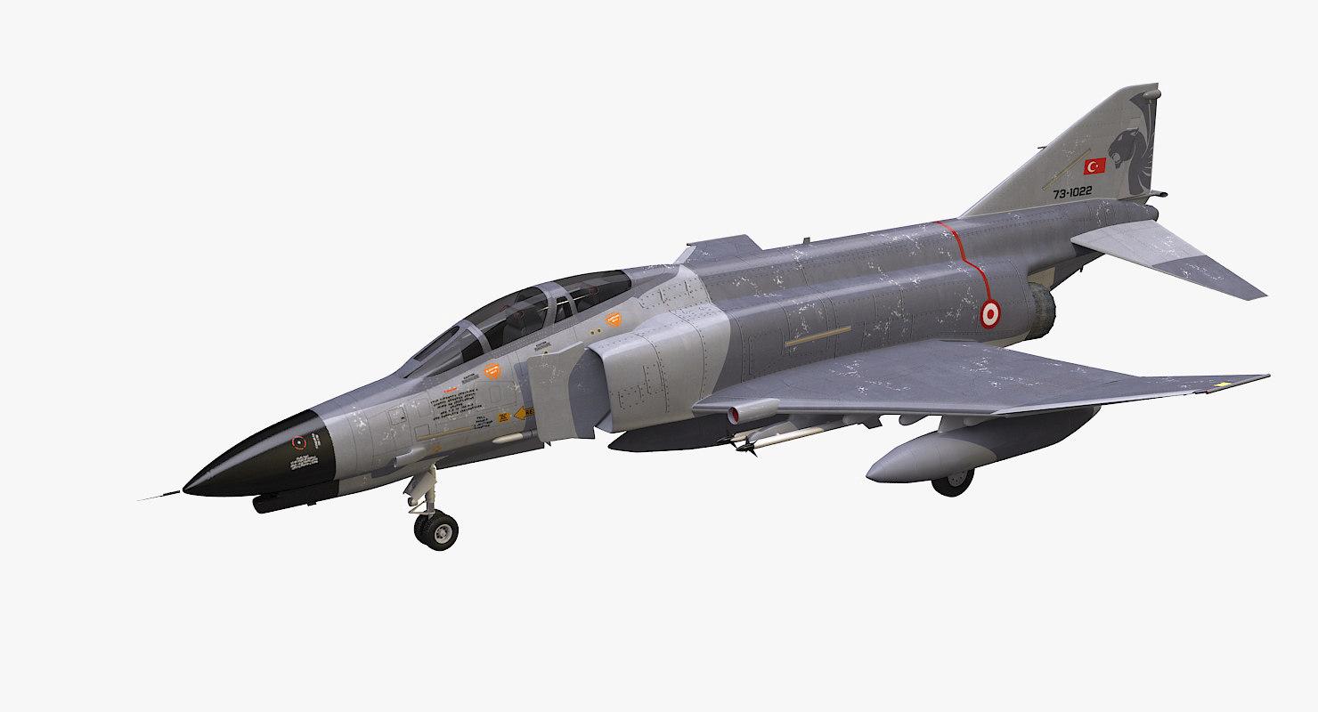 3d model turkish f-4e