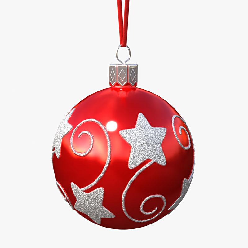 christmas ball 3d obj